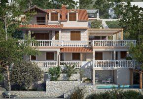 Villa in Prizba with 4 apartments