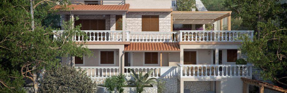 Vila s 4 apartmana za prodaju - nekretnine Korčula Prižba